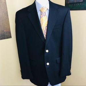 Chaps 100% wool navy two button blazer
